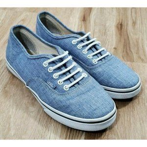 Vans Womens Authentic Chambray Blue Sneakers 7